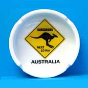 Ashtray Roadsign Kangaroo