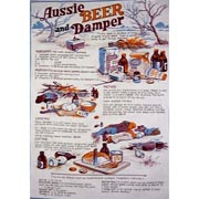 Beer & Damper Tea Towel